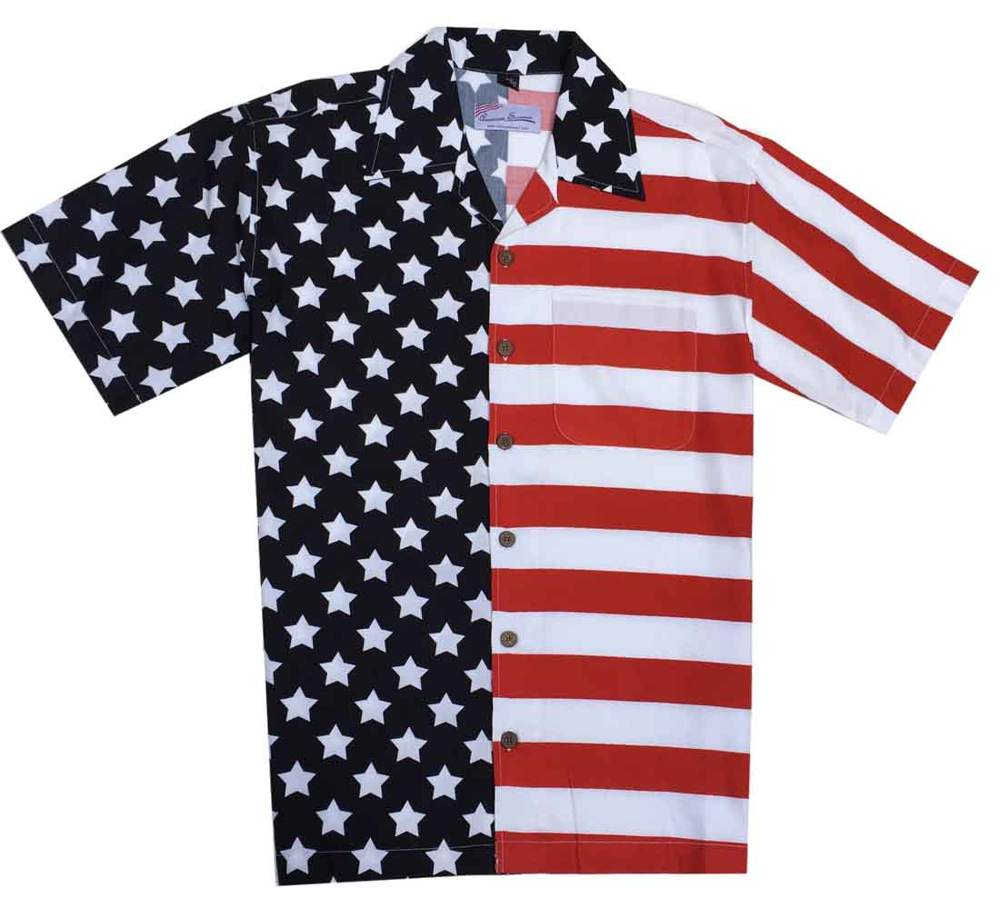 Cotton Traders Woven Flag Shirt