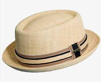Scala Raffia Pork Pie Hat