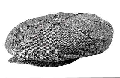 New York 8/4 Wool Tweed Newsboy Cap