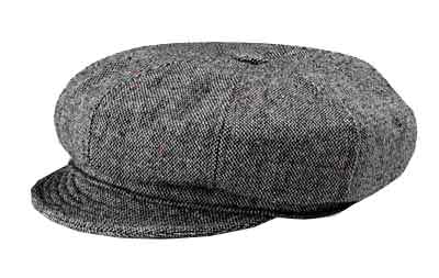 New York Wool Tweed Spitfire/Newsboy Cap
