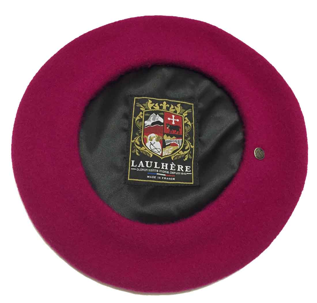 a49d6561e5c93 Heritage by Laulhere Classique Authentique French Wool Beret Made in France  BEST SELLER! 100% Wool Fully Lined Heritage by Laulhere Metal Logo Pin