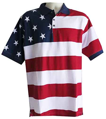 Cotton Traders Knit Flag Shirt