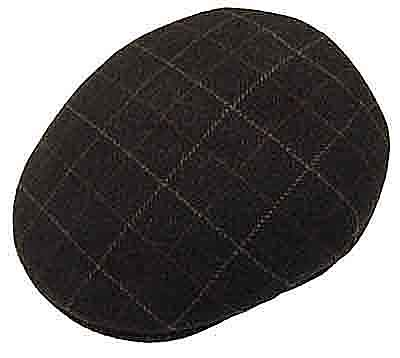 40fa9481be9 Capas Wool Windowpane Ascot Cap Made in Italy Style Y1115 100% Wool Sizes   S - XXL Colors  Black