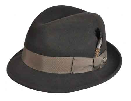 8b3ab520 Bailey of Hollywood Lite-Felt/Packable Blues Brother(TINO) Hat Style ...