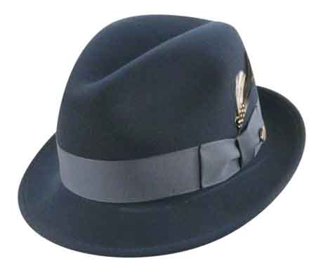 Bailey s Lite-Felt Blues Brother(TINO) Hat Crushable Water Repellent DuPont  Te001 Center Dent 100% Wool Felt Brim  1-7 8