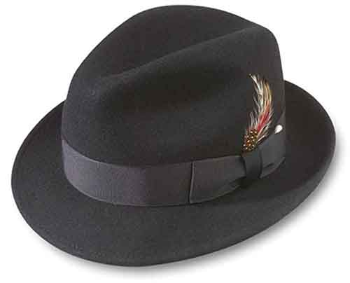 40caf57ecebb8 Lite-Felt Melodrama Blues Brother Hat Crushable Water Repellent DuPont  Teflon Fabric Protector Style  73-38. Center Dent 100% Wool Felt 2