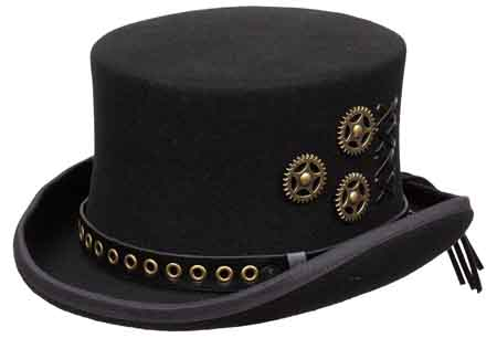 751e170e6ee Steampunk Top Hat Made in China Style  WFSP 100% Wool Felt Brim  2