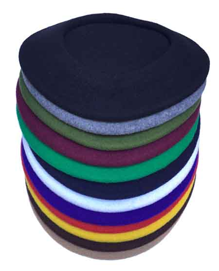 French Plain Wool Beret
