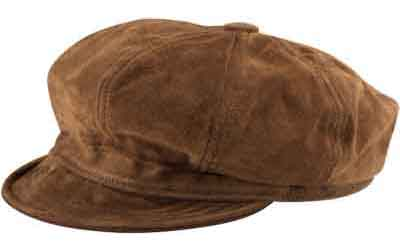 New York Suede Leather Spitfire/Newsboy Cap