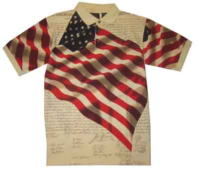Cotton Traders Knit Patriotic Flag Shirt